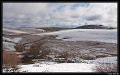 Le Cézallier saupoudré de neige