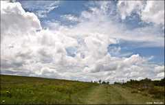 Chemin et nuages